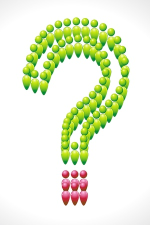illustration of human icon forming question mark Stock Vector - 9062576