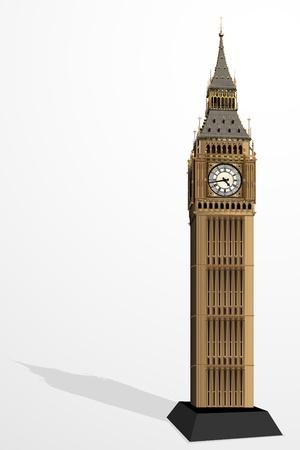 big ben: illustration of Big Ben Tower on plain background Stock Photo