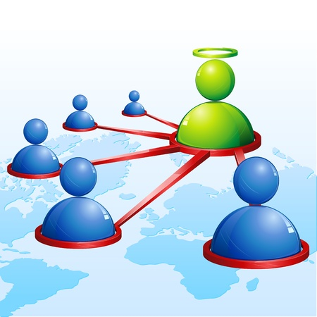illustration of human connecting with each other showing networking Vector