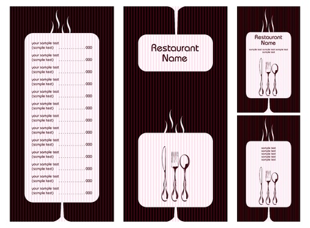 illustration of set of menu card template for hotel Vector