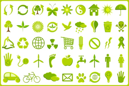 illustration of set of complete recycle icon set Stock Vector - 9167309