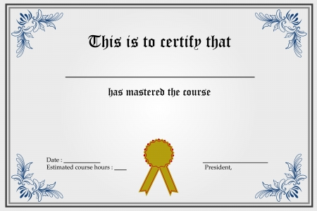 illustration of certificate template with blank spaces Vector