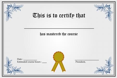 thankful: Ilustraci�n de la plantilla de certificado con espacios en blanco