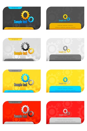 illustration of set of business card on isolated background Vector