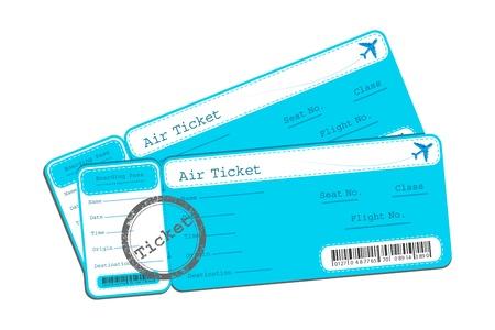 illustration of flight ticket on isolated background Stock Illustration - 9294047