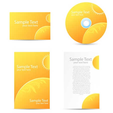illustration of set business stationery like card cd and letterhead Vector