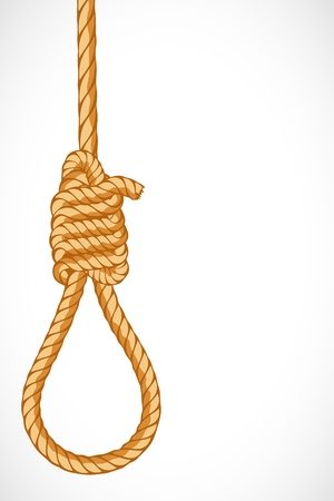 knoop: illustration of noose hanging on abstract background
