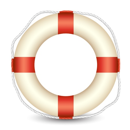 preserver: illustration of lifebouy kept in isolated white background