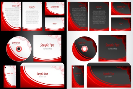 illustration of set of business template in different colors Stock Illustration - 9378373