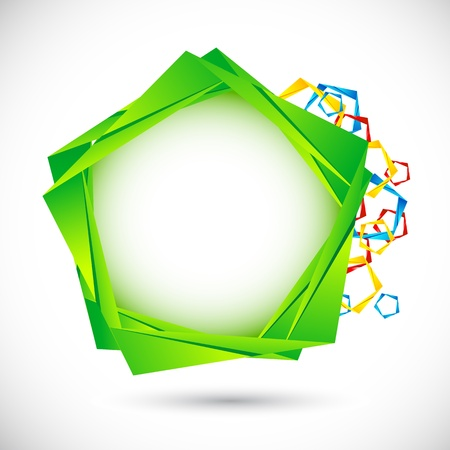 illustration of geometric shape on abstract background Stock Vector - 9383084