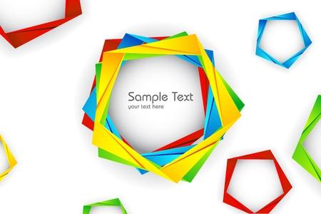 trendy shape: illustration of geometric shape on abstract background