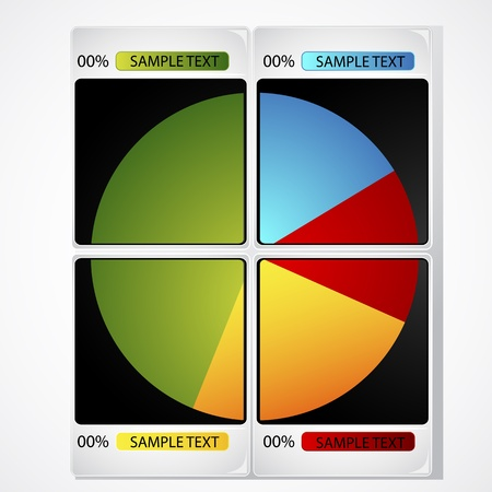 illustration of pie chart on photograph on abstract background Stock Vector - 9413120