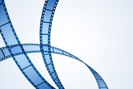 film projector: illustration of film reel stripe on abstract background Illustration