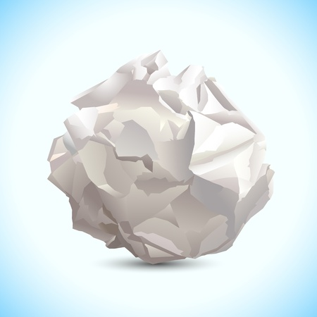 smudged: illustration of crumbled paper on abstract background