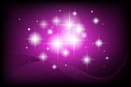 illustration of abstract background with sparkling star Vector