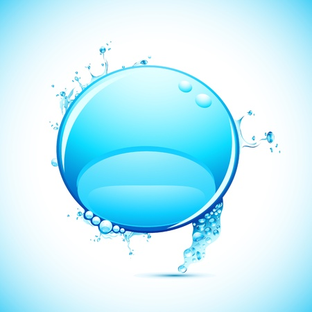 illustration of speech bubble in shape of spalshing water Vector