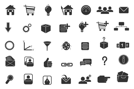 illustration of set of computer application icon for web illustration