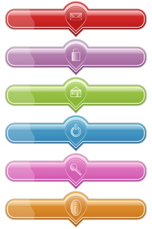 functional: illustration of set functional button for web Stock Photo