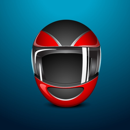 motorcycle helmet: illustration of bike helmet on abstract background Illustration