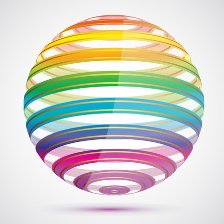 rainbow sphere: illustration of colorful sphere on abstract background