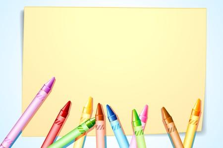 artboard: illustration of colorful canvas on canvas paper Illustration