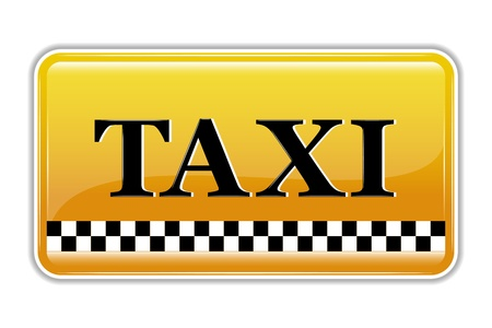 illustration of taxi symbol on isolated background Stock Vector - 9720541