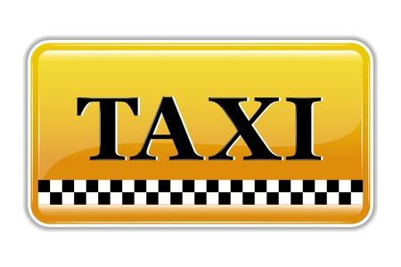 Ilustración de símbolo de taxi sobre fondo aislado