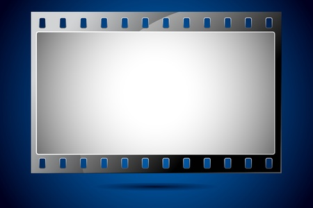 illustration of film strip frame on abstract background Vector
