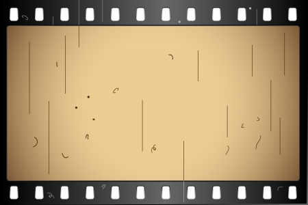 movie projector: illustration of film strip frame on abstract background Stock Photo