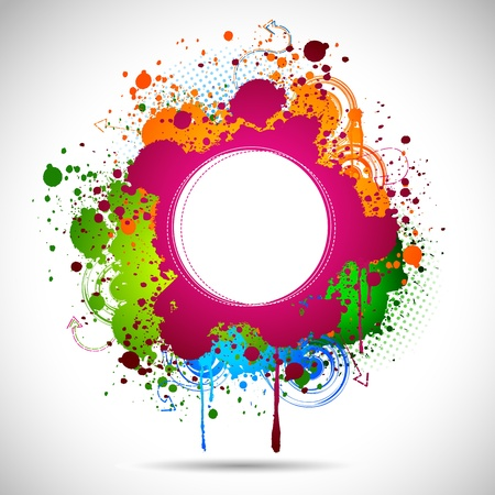 digital paint: illustration of grungy ink spot on abstract background Stock Photo