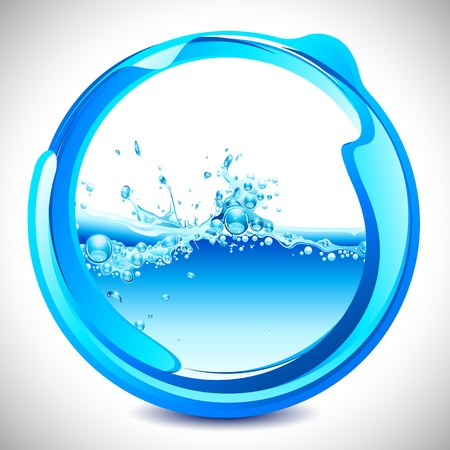 illustration of water splash in abstract circular shape Stock Vector - 9764422