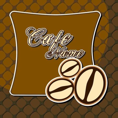illustration of template for cafe with coffee beans Vector