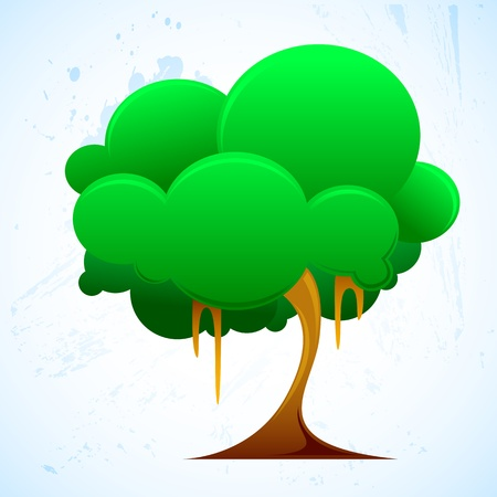 illustration of growing tree on white background Stock Vector - 9777042