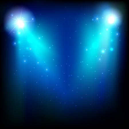 spotlight lamp: illustrazione di fase per le prestazioni con luce spot