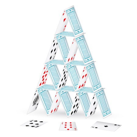knave: illustration of made of playing card on isolated background