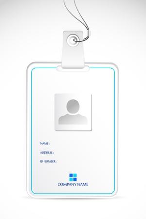 carta identit�: illustrazione della carta d'identit� in bianco su sfondo astratto Vettoriali