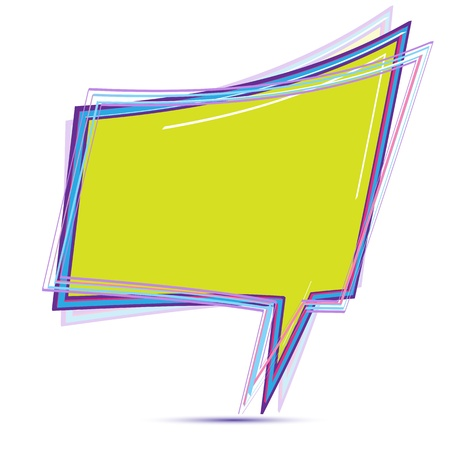illustration of colorful chat bubble on white background Vector