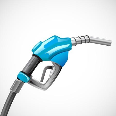 Ilustración de gasolina nozzel sobre fondo abstracto