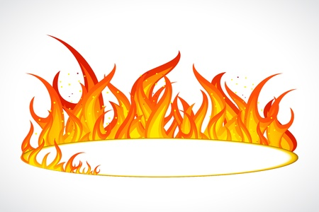 illustration of fire flame in circular shape