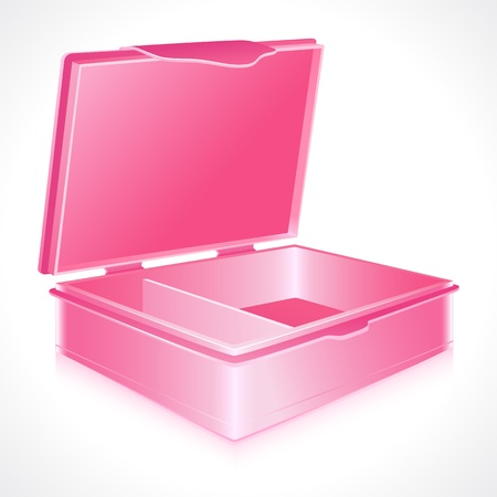 tiffin: illustration of empty tiffin box on abstract white background