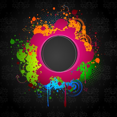 illustration of grungy ink spot on abstract background Stock Vector - 10312064