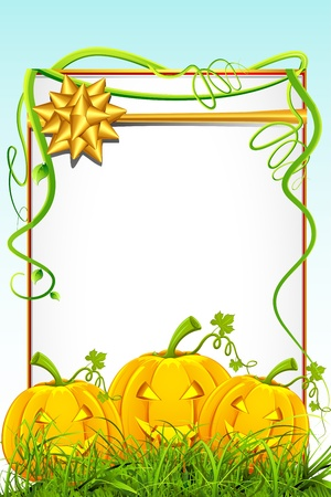 illustration of happy halloween card with pumpkin Stock Vector - 10319828