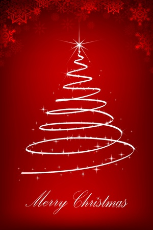 illustration of christmas tree made of sparkling star Vector