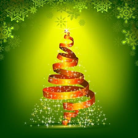 illustration of ribbon in shape of christmas tree Stock Vector - 10745848