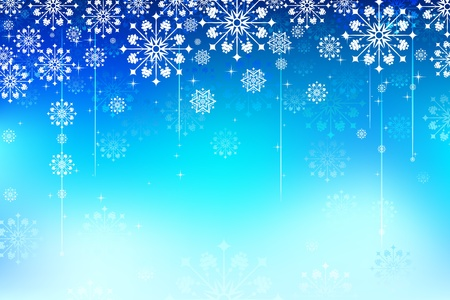 illustration of different snowflakes in abstract background Stock Vector - 10831003