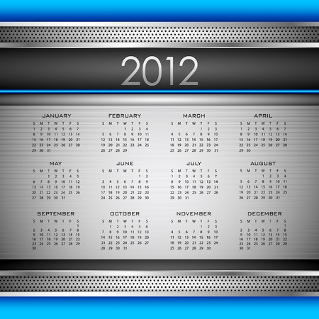 illustration of complete calendar for 2012 in abstract background Stock Vector - 10885223