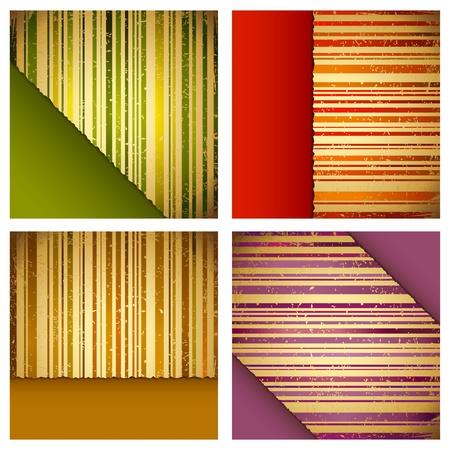 illustration of retro style multicolor striped background Stock Vector - 11275717