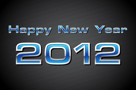 illustration of happy new year 2012 text in metallic look Stock Illustration - 11275730