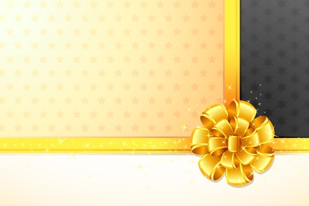 illustration of ribbon bow on gift paper Vector