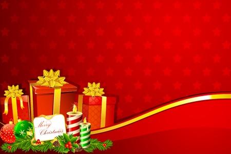 illustration of christmas gift box on snowflake background Stock Vector - 11275742